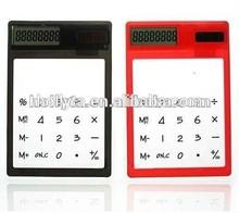 Mini fancy touch screen transparent solar calculator,solar pocket calculator