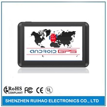 5 inch High Quality Capacitive Touch Screen Quad Core Android Car GPS