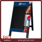 Double sides wooden frame free standing A chalkboard