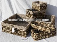 chinese cheap handmade maize storage basket