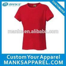 bulk qty rib collar 60 cotton 40 polyester plain t shirts