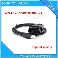 Highest quality VAG K+CAN Commander 1.4 OBD2 diagnostic interface cable for VW