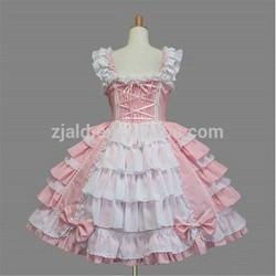 Vintage lady party dress sleeveless pink lolita dress