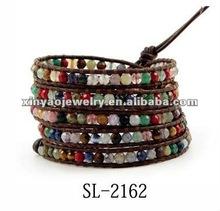 fashion leather wrap bracelet