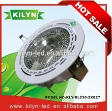 KILYN DOMINO KLY-DL230-2*E27 high power lumen 26w rohs cob led down ligh
