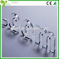 Perfect cristal acryliqueimprimé lettres de l'alphabet