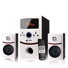 2014 low price 2.1 computer speaker super bass with fm radio