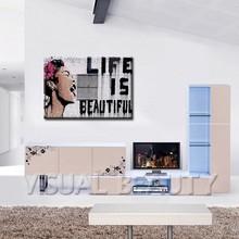 Life is beautiful Banksy Art Original