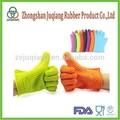 Utensilios de cocina FDA, guante de silicona con dedos para BBQ.