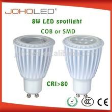 Cost effective led light gu10 8w spots led CRI 80 led industrial light