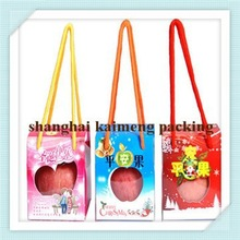 Hot selling fancy christmas christmas apple box with handle
