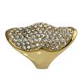 la moda de la ksf plateado de aceroinoxidable joyería del anillo allanar diamantes