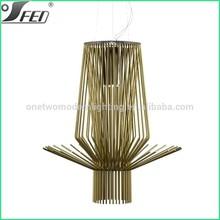 Copper and gold restaurant long aluminum pendant lighting