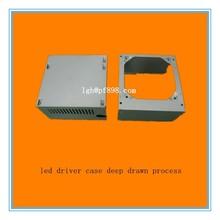 customize led driver case deep drawn process,led driver case precision cnc deep drawn die stamping