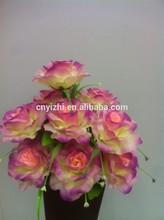 De alta qualidade flores artificiais da flor do casamento Hibiscus rosa YZe41