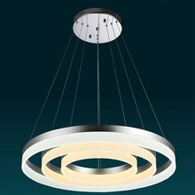 Suspended Round circle light LED Ring Lamp Color change pendant acrylic