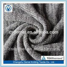 R/T+DOP plain coarse needle jacquard knitting fabric