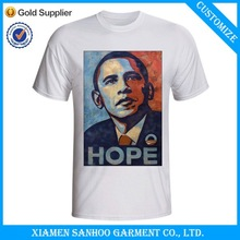 Cheap Price Political Campaign Printed White Election T Shirt With Graphic
