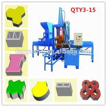 QTY3-15 hydraform brick making machine price/paving brick machine hydraform/hydraulic block interlocking making machine