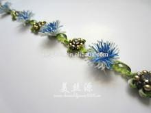 decorative popular green trim with flowers