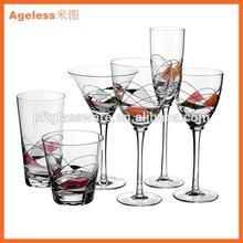 Machine Blow Glass,drum type at bottom.water glass.juice