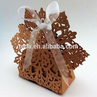 2015Teda Decorative Pearl Brown Snowflake Chrismas Favor Candy/chocolate box(ZH-018)