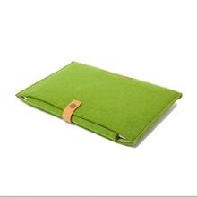 2015 new design customized felt wool laptop bag sleeve for wholesale