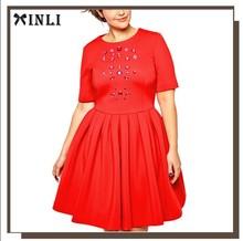 New Skater Dress Wholesale Clothing Plus Size Evening Dresses w/ Gemstone Jewels