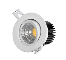 Ra80 3 inch dimmable 7w cob led downlight