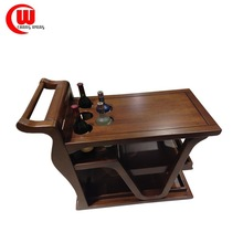 elegant 100% solid wood dining room furniture wine cart wine trolley