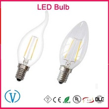 New Arrival 2W 3W 4W 6W 8W E27 E26 E12 E14 B22 C35 light Filament LED Candle bulb