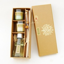 Fragrance oil and bamboo sheet reed diffuser gift sets