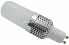 Grado 360 pl cfl de lámpara 10w gu10 bombilla led, blanco frío, de aluminio con cubierta de plástico, no- regulable