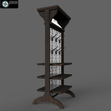 Antique wooden hat display stand custom made for Brixton