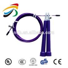 Speed Jump rope , ball bearing Metal handle, Stainless steel wire