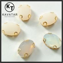 wholesales rhinestone/opal stone jewelry in teardrop shape