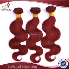 Neobeauty Hot Sale Cheap Brazilian Hair Weave, 100% Young Girl Human Hair Straight & Body Wave Red Brazilian Hair Weave