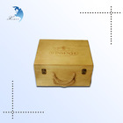 Custom wholesale cheap wooden wine gif boxes