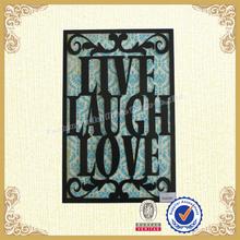 Framed metal sign-LIVE LAUGH LOVE