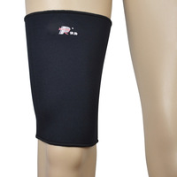 Custom China factory made black waterproof sports protective high quality elastic neoprene thigh support