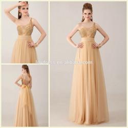 One Shoulder Crystal Beading Customized Floor Length Long Evening Party Wear Vestidos ED011 ladies long evening party wear gown