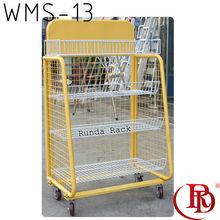 adjustable steel wire metal shelving rack stand supermarket vegetable and fruit display shelf