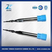 Ağaç kesme tungsten çelik 2 flüt parmak freze/cnc alüminyum freze kesici bit cab2- 0.25r*4