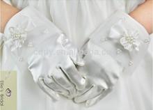 2015 Wedding satin flower girl gloves,high-quality handmade girls gloves,pretty elegant lady glove
