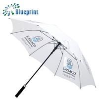 Strong Fiberglass Straight Golfing Umbrella Custom Made One Canopy Promo