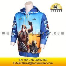 2014 custom made sublimatio Custom Sublimation plain yellow hoodie