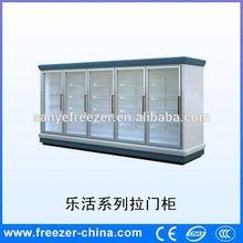 Sanye new style supermarket glass door display cold room