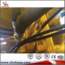 smooth surface hydraulic rubber hose cutting and skiving machine