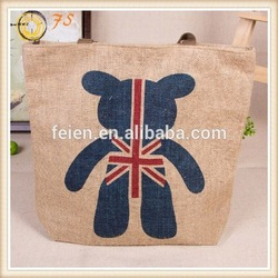 ecology tote jute bag fashion