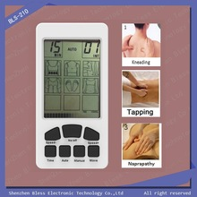 BLS-210 Competitive price white, yellow, green, pink electronic pulse massager